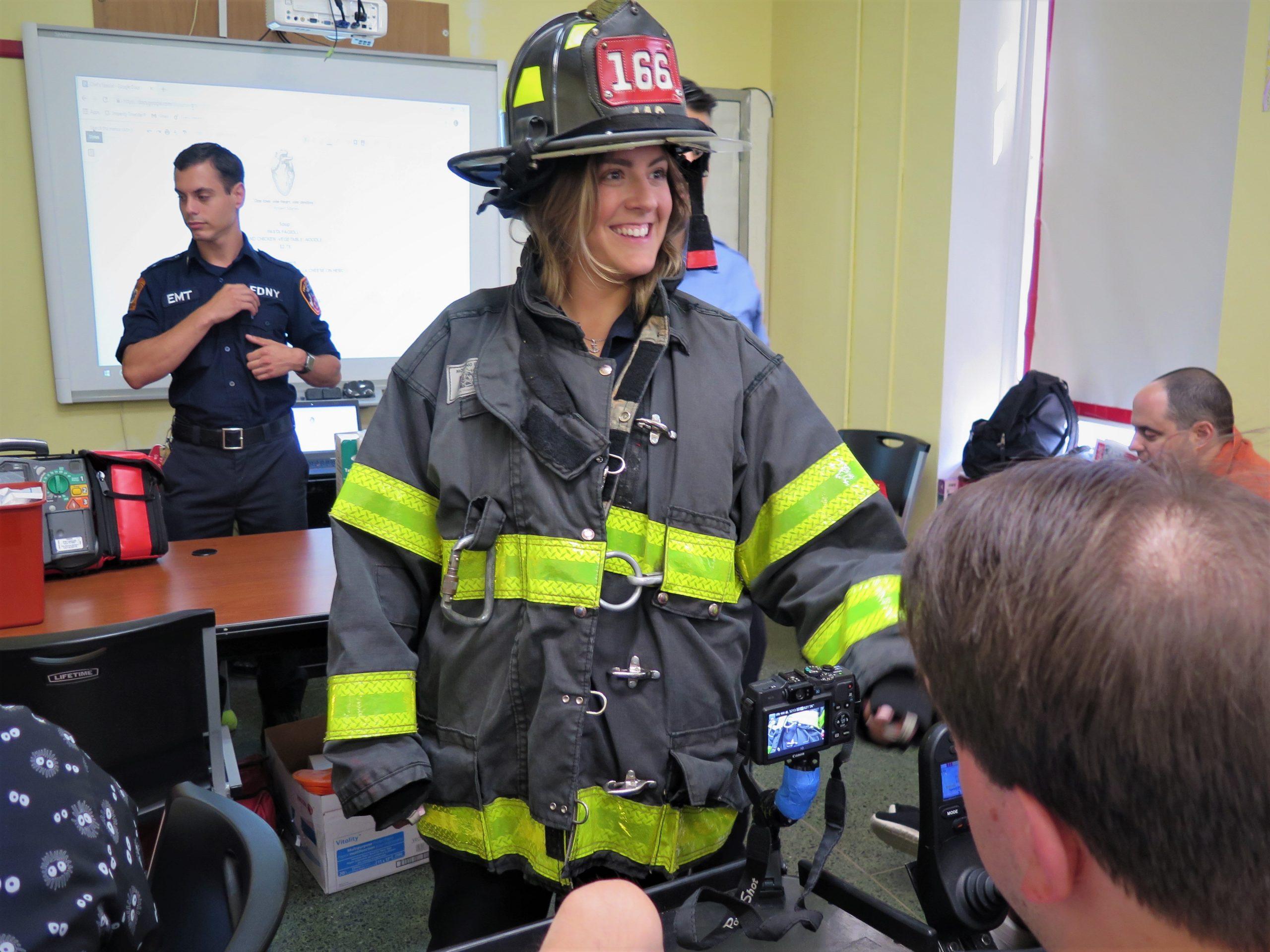 Lauren Hartnett, paramedic, at Lifestyles.